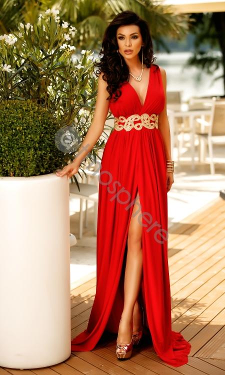 rochie-lunga-rosie-tul-cu-pasmanterie-au-10
