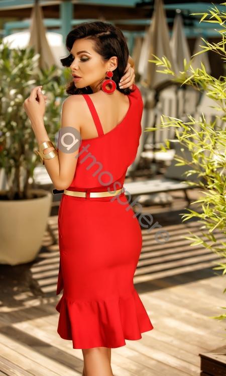 rochie-trei-sferturi-rosie-cu-volane-rn-20